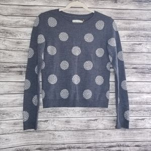 Alice + Olivia Gray Wool Polka Dot Sweater